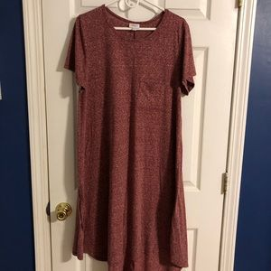 2XL Lularoe Carly burgundy heather